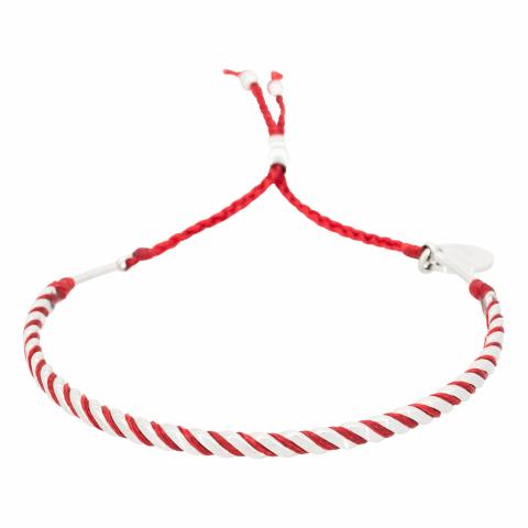 Bracelet en acier et cordon...