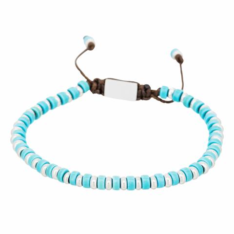 Bracelet en perles bleues...