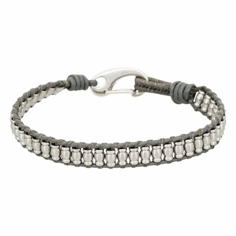 Bracelet cuir et acier...