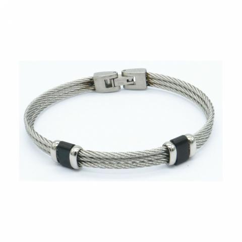 Bracelet cable en acier...