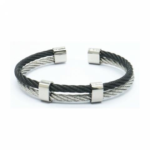Bracelet double cable en...