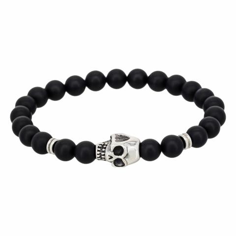 Bracelet de perles noires...