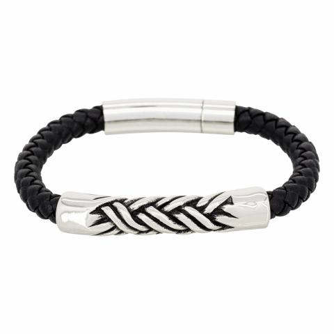 Bracelet en cuir noir...